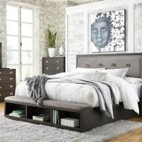 Hyndell Dark Brown Bedroom Set