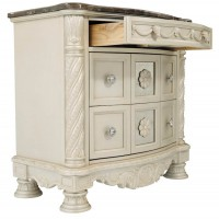 Cassimore Pearl Silver Three Drawer Night Stand
