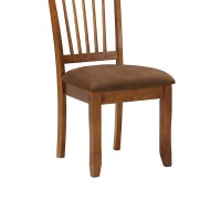 Berringer Rustic Brown Dining Upholstered Side Chair (Includes 1)