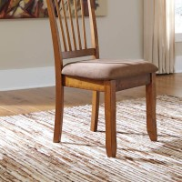 Berringer Rustic Brown Dining Upholstered Side Chair (Includes 2)