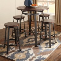 Challiman Rustic Brown Dining Room Set