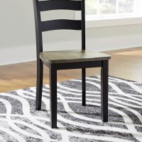 Froshburg Grayish Brown/Black Dining Room Side Chair (Includes 2)