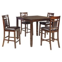Bennox Brown Dining Room Counter Table Set (Includes 5)
