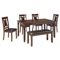 Bennox Brown Dining Room Table Set (Includes 6)