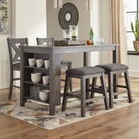 Caitbrook Dark Gray Dining Room Set