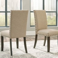 Rokane Brown Dining Upholstered Side Chair (Includes 2)