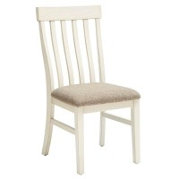Bardilyn Antique White/Brown Dining Upholstered Side Chair (Includes 2)