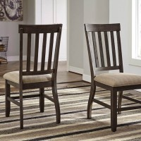 Dresbar Grayish Brown Dining Upholstered Side Chair (Includes 2)