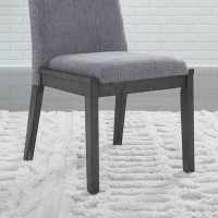 Besteneer Dark Gray Dining Upholstered Side Chair (Includes 2)