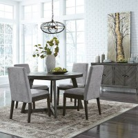 Besteneer Dark Gray Dining Room Set