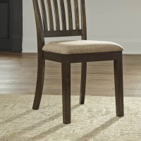 Alexee Dark Brown Dining Upholstered Side Chair (Includes 2)