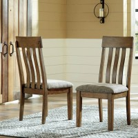 Flaybern Brown Dining Upholstered Side Chair (Includes 2)