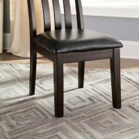 Haddigan Dark Brown Dining Upholstered Side Chair (Includes 2)