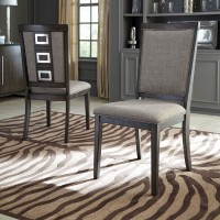 Chadoni Gray Dining Upholstered Side Chair (Includes 2)
