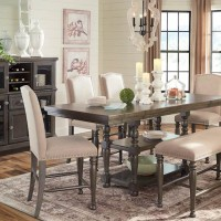 Audberry Dark Gray Dining Room Set