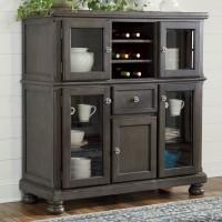 Audberry Dark Gray Dining Room Server