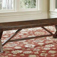 Windville Dark Brown Large Dining Room Bench