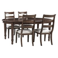 Adinton Reddish Brown Extension Table And (4) Chairs