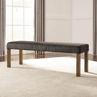 Tamilo Gray/Brown Large Upholstered Dining Room Bench
