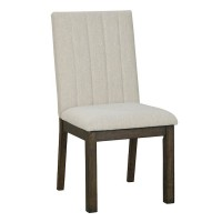 Dellbeck Brown Dining Upholstered Side Chair (Includes 2)
