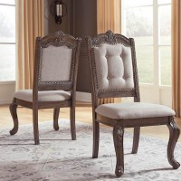 Charmond Brown Dining Upholstered Side Chair (Includes 2)