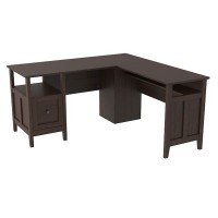 Camiburg Warm Brown Home Office Desk Return