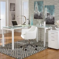 Baraga White Office Set