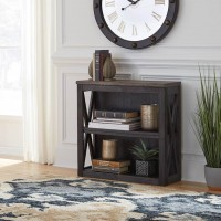 Tyler Creek Grayish Brown/Black Medium Bookcase