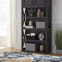 Tyler Creek Grayish Brown/Black Large Bookcase