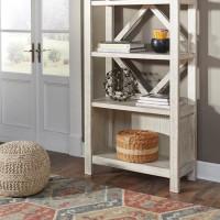 Carynhurst Whitewash Large Bookcase