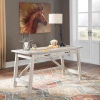 Carynhurst Whitewash Home Office Large Leg Desk