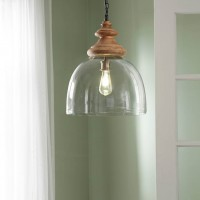 Farica Transparent Glass Pendant Light (Includes 1)