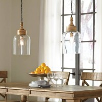 Faiz Transparent Glass Pendant Light (Includes 1)