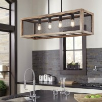 Jodene Brown/Black Wood Pendant Light (Includes 1)