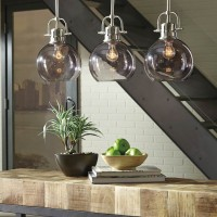Johano Gray Glass Pendant Light (Includes 1)