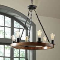 Plato Brown/Black Wood Pendant Light (Includes 1)