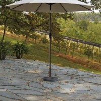Umbrella Accessories Brown Medium Auto Tilt Umbrella