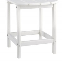 Sundown Treasure White Rectangular End Table