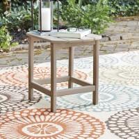 Sundown Treasure Grayish Brown Rectangular End Table