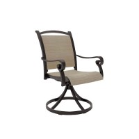 Bass Lake Beige/Brown Sling Swivel Chair (Includes 2)