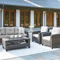 Cloverbrooke Gray Sofa/Chairs/Table Set (Includes 4)