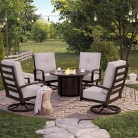 Castle Island Dark Brown Patio Group