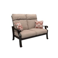 Chestnut Ridge Brown Loveseat with Cushion