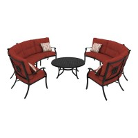 Burnella Brown Sectional Patio Group