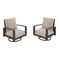 Cordova Reef Dark Brown Swivel Lounge Chair (Includes 2)