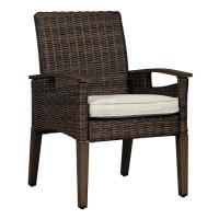Paradise Trail Medium Brown Arm Chair With Cushion (Includes 2)