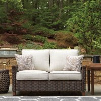 Paradise Trail Medium Brown Loveseat with Cushion