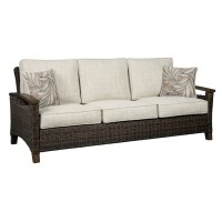 Paradise Trail Medium Brown Sofa with Cushion
