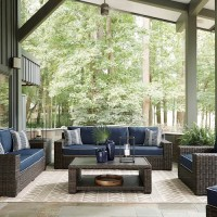 Grasson Lane Brown/Blue Patio Group