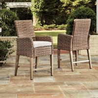 Beachcroft Beige Barstool with Cushion (Includes 2)